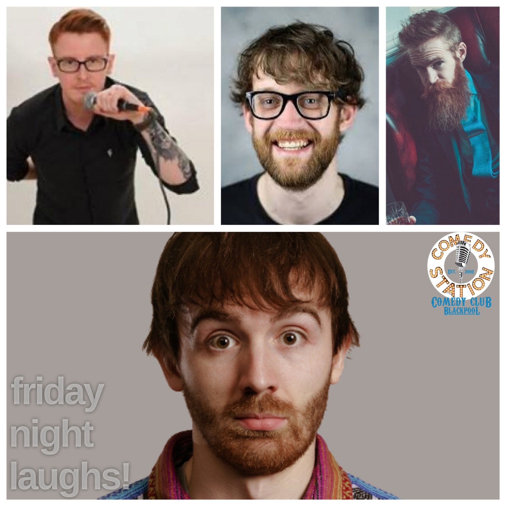 Comedy show Blackpool Friday 18th June
