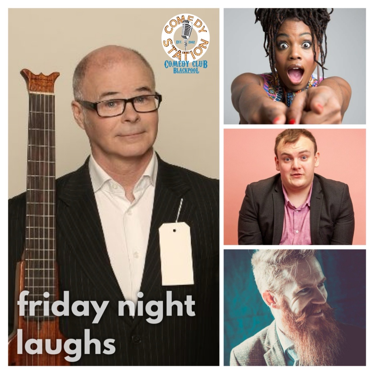 Friday comedy Blackpool Andy askins thanyia Moore Andrew white Ryan Gleeson