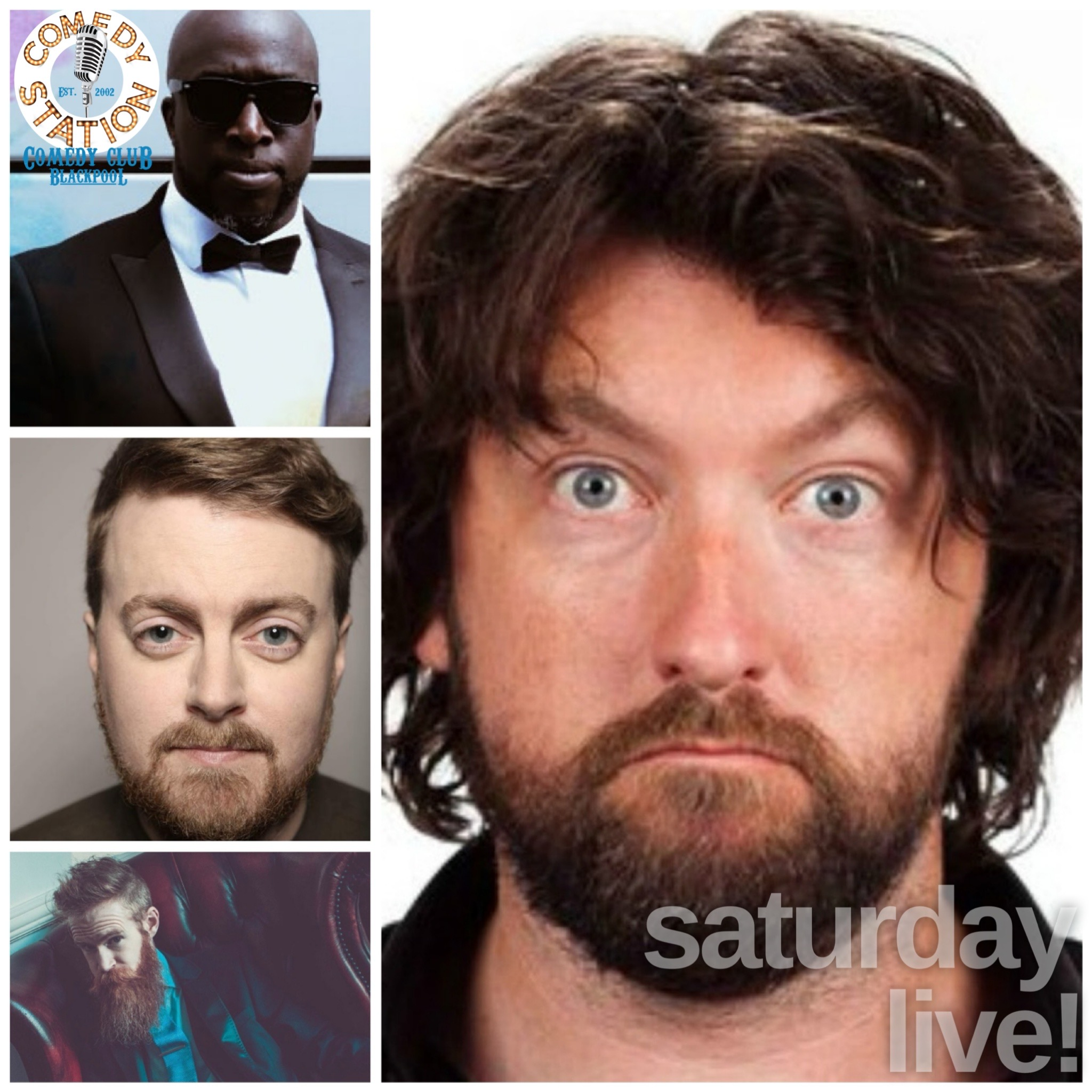 Comedy show Blackpool Saturday 7th august