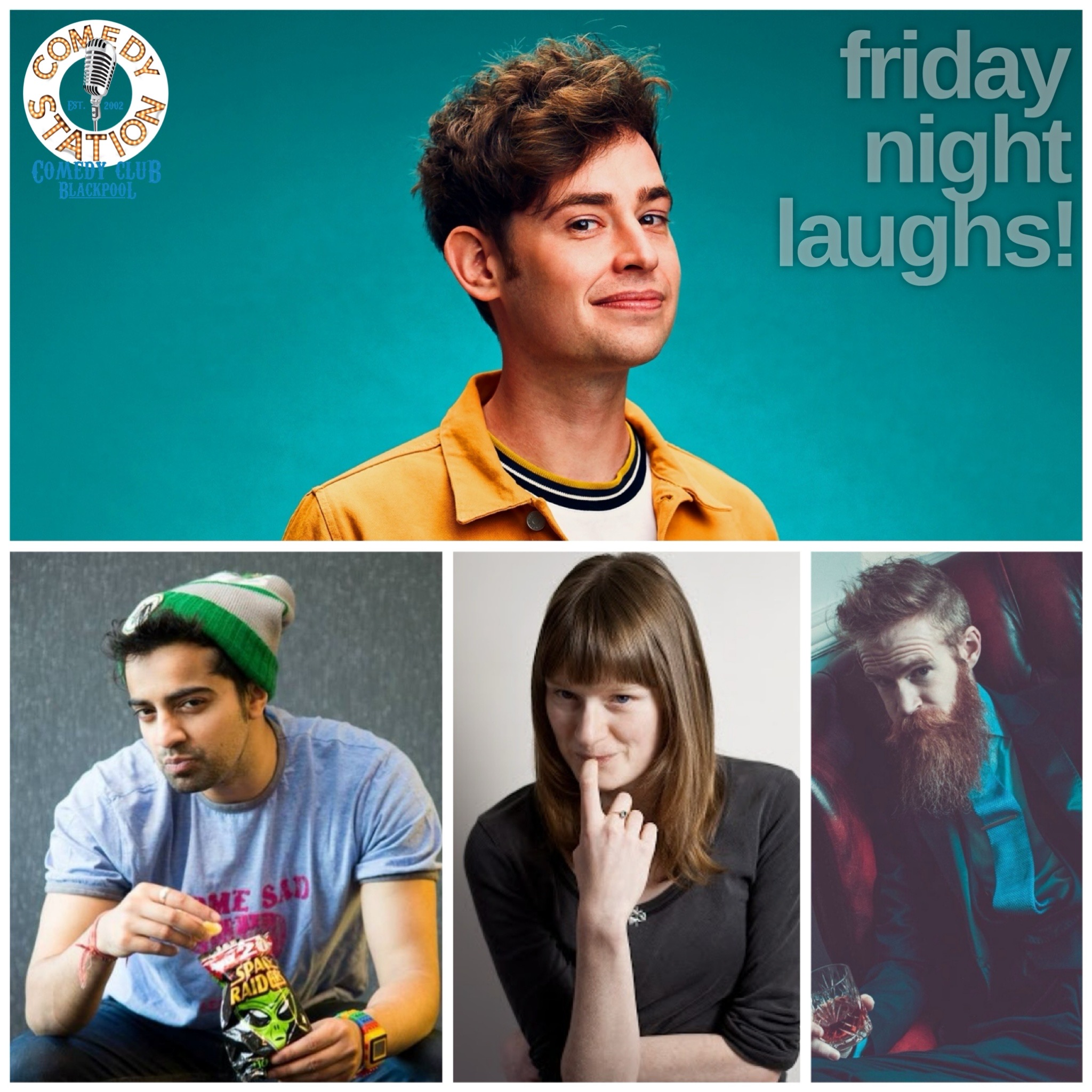 Comedy show Blackpool Friday 4th June